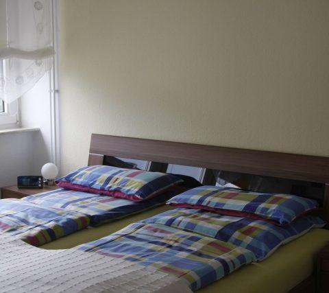 Schlafzimmer auf ferienwohnung hausrosengarten